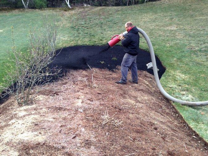 Mulch Blowing